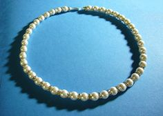 #242 Crystal and Man-made pearl necklace - Our Creative Side