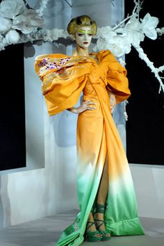 Christian Dior Haute Couture Spring 2007 - Dior's off-the-shoulder sleeves pushed to the the max