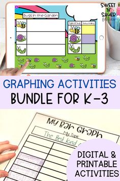 Are you looking for a fun and engaging way for students to practice all their graphing skills? This fun graphing activities bundle gives you everything you need for a jam packed hands on graphing unit from start to finish! Student learn how to collect and represent data as well as answer questions about data all while learning about tally marks as well. This is great for math workshop, guided math, and math centers.