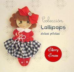 dulces pilukas: Lollipops Cherry Cream