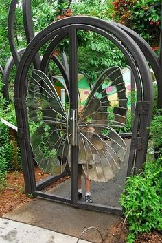 Butterfly Gate by kcprice on Flickr..