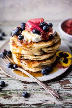 Blueberry Almond Pancakes   http://halfbakedharvest.com @Half Baked Harvest