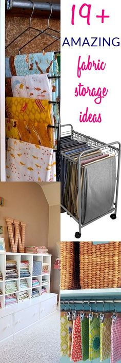 19+ AMAZING Fabric Storage Ideas For Sewing Rooms | Fabric Organization  Ideas | Fabric Storage