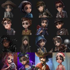 """The Main Characters (Survivors) representing Season 1 & 2 from the mobile game, """"Identity V"""" Id Identity, Identity Design, Game Character, Character Design, V Cute, V Games, Reborn Katekyo Hitman, Cute Stories, Cool Costumes"""