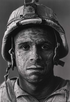 Face of War: U. Marine Carlos 'OJ' Orjuela was photographed by Louie Palu after a mission in Helmand province, Afghanistan.Look into his soul and learn what the word brace means Photo D Art, Foto Art, War Photography, People Photography, Street Photography, Landscape Photography, Fashion Photography, Wedding Photography, We Are The World