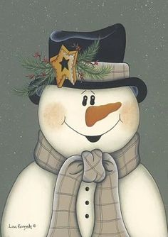 Star Snowman ~ Fine-Art Print - Christmas Art Prints and Posters - Christmas Pictures Más Christmas Canvas, Christmas Paintings, Christmas Snowman, Winter Christmas, Snowmen Paintings, Merry Christmas, Snowman Crafts, Christmas Projects, Christmas Crafts