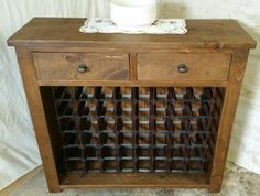 SOLID REAL WOOD WINE RACK SIDEBOARD NEW CHUNKY RUSTIC PLANK PINE FURNITURE
