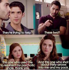 Scott, Derek, Lydia, Allison