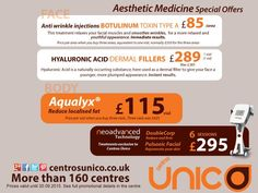 Amazing promotions on Aesthetic treatments at Centros Unico in September.