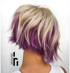 """210 Likes, 19 Comments - Julie Holbrook (@headrushdesigns) on Instagram: """"Icy blonde and pretty purple are quite the treat!! #behindthechair #headrushdesignsbyjulieann…"""""""