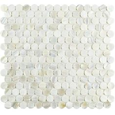 Merola Tile Conchella Mini Penny White 11-1/2 in. x 12-1/4 in. x 3 mm Natural Seashell Mosaic Tile GFNCMPW at The Home Depot - Mobile