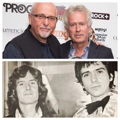 Tony Banks & Peter Gabriel, now and then. Both still incredibly handsome.