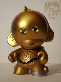 C-3PO Custom Munny by Manly Art, via Flickr