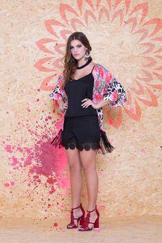Kimono Franja VKM 119 / Macaquinho Renda Barra VMA 144 #MundoErreErre @erreerreoficial