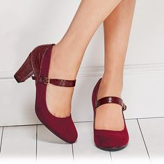 Cushion Walk® Clarissa Mary Jane Pump | Avon Love wearing a heeled shoe but hate being in discomfort? You'll get the best of both worlds with the Cushion® Walk Clarissa Mary Jane Pump. The Clarissa Mary Jane Pump is the ultimate comfort heel featuring a leatherlike look with a mock-croc trim.