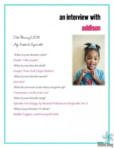 An Interview with the Toddler | Houston Moms Blog {+ FREE printable!}
