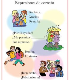 Spanish Courtesies Poster - Italian, French and Spanish Language Teaching Posters Spanish Lessons For Kids, Spanish Basics, French Lessons, Spanish Vocabulary, Spanish Language Learning, Teaching Spanish, Spanish Worksheets, Spanish Games, Spanish Activities