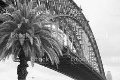 Infra Red Sydney Harbour Bridge royalty-free stock photo