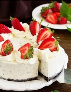 Cake without baking: Oreo cheese cake - Cake without baking: Oreo cheese cake . - Cake without baking: Oreo cheese cake – Cake without baking: Oreo cheese cake – bake ea - Oreo Cake, Oreo Cheesecake, Cheesecake Recipes, Dessert Recipes, Oreo Cupcakes, Strawberry Cheesecake, No Bake Cookies, No Bake Cake, Baking Cookies