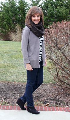 Day 6 of my 31 days of Winter Fashion! It's perfect weather for a big scarf to keep cozy!