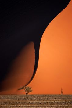 Tornado or massive sand dune in Namibia?
