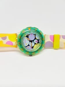 1991 Vintage Swatch Watch Sdk105 Sea Grapes 90s Swatch Watch In