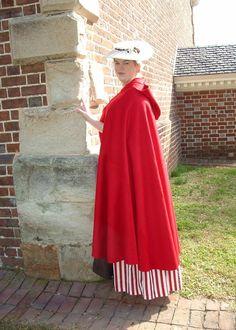 jennylafleur | 18th century red wool cloak