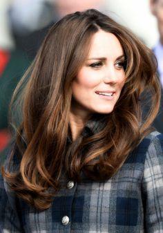 Kate Middleton in plaid