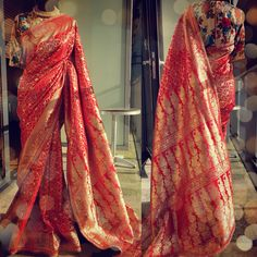 Benarsi Saree by Ayush Kejriwal Benarsi Saree, Anarkali, Sari, Sabyasachi, Saree Dress, Indian Attire, Indian Wear, Indian Dresses, Indian Outfits