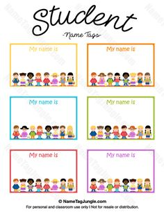 name tag template free printable Free printable student name tags. The template can also be used . Kindergarten Name Tags, Preschool Name Tags, Classroom Name Tags, Name Tag Templates, Templates Printable Free, Cubby Name Tags, Student Name Tags, Name Tag For School, Printable Name Tags