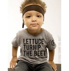 lettuce turnip the beet  ecoheather grey track shirt  baby by coup