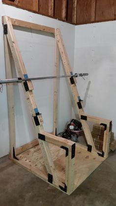 diy home gym DIY Custom squat rack squat stand for an economical garage gym - 26 Inspirational Diy Weight Bench Inspiration
