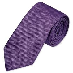 Woven plain lilac tie | Men's woven silk ties from Charles Tyrwhitt, Jermyn Street, London