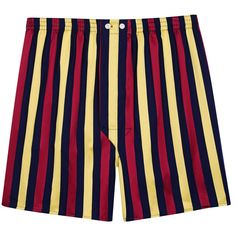 Derek Rose Regimental RAMC Boxershorts - Burgundy/Yellow/Navy | Burgundy/Yellow/Navy Underwear | KJ Beckett