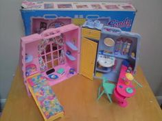 Sindy dream room- wanted this so bad. My best friend had it and I was lucky enough to get her box for it!!