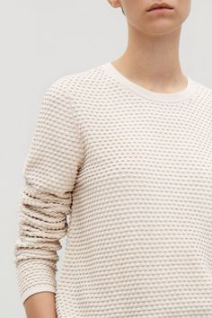 16cbdfaf1ac9 COS image 3 of Textured A-line top in Biscuit Jumper