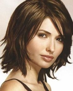 medium hairstyles for oval faces will make your hair look thicker ...