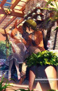 Sweet Rendevouz by Kaze-Hime on DeviantArt Manga Anime, Manga Art, Princess Tutu Anime, Princesa Tutu, Cute Cartoon Wallpapers, Anime Figures, I Love Anime, Magical Girl, Anime Couples