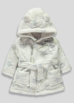 bb6cee4c29452 Unisex Disney Winnie the Pooh Dressing Gown (Newborn-12mths) - Matalan  Disney Baby