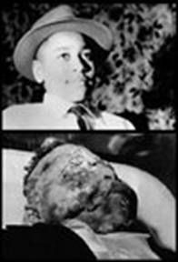 Emmett Till before his death and after his eye was laying on his cheek-- a piece of our history that should not be forgotten!!