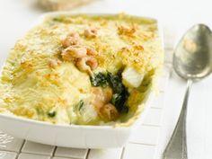 Visgratin met spinazie en garnaaltjes - Libelle Lekker!