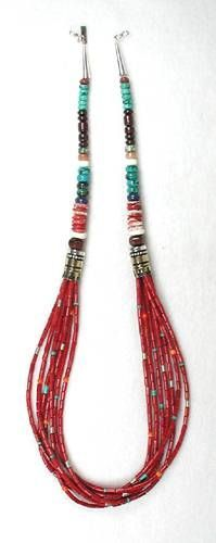 Tommy Singer Navajo Bamboo Coral Necklace
