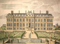 Montagu House, London, a 17th century mansion that from 1759 was the first home of the British Museum. It was pulled down in the 19th century and replaced by the present much larger buildings.