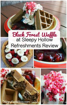 The Black Forest Waffle at Sleepy Hollow in Magic Kingdom is a must-try!