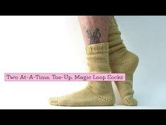 ▶ 2 Socks at-a-Time, Toe-Up, Magic Loop - YouTube
