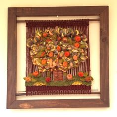 Woven Framed Wall Hanging by WovenHomeArt on Etsy, $200.00