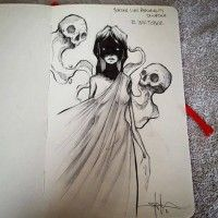Shawn Coss Creates Creepy Drawings of Mental Health Conditions for Inktober