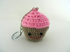Cupcake Crochet Keyring :)
