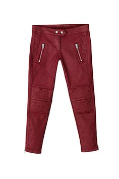 Cropped skinny pants in rich burgundy - a classic Isabel Marant stable!