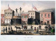 San Francisco was partially built on the abandoned buried ships from the Gold Rush-Ships turned into hotels and bars